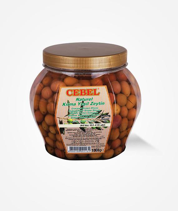 Cebel Natural Cracked Green Olive 1000 gr