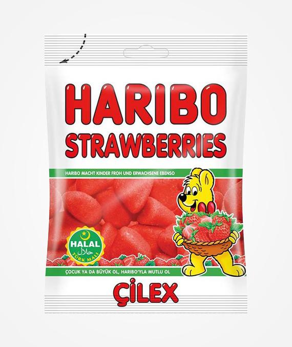 Haribo Strawberries 100 gr