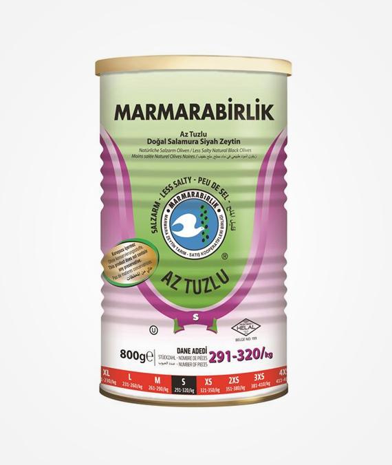 Marmarabirlik Lessaltly Brine Olive 800 gr